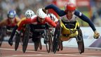 Great Britain's Shelly Woods competes during the women's 5000 metres T54 final