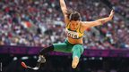 Kelly Cartwright of Australia competes in the long jump F42/44 final