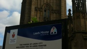 Leeds Minster sign