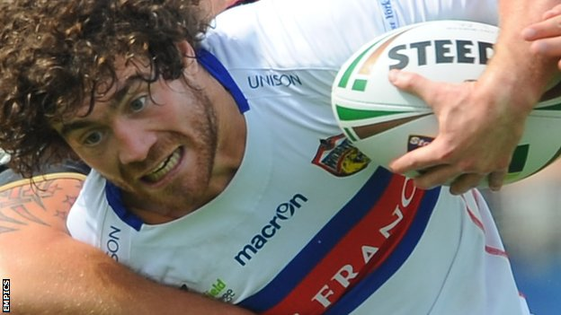 Kyle Amor scored Wakefield's opening try