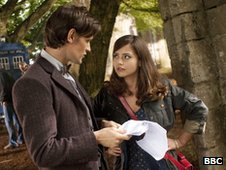 Matt Smith as The Doctor and his new sidekick Jenna-Louise Coleman