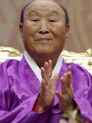 Evangelist Reverend Sun Myung Moon in 2011