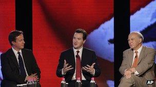 David Cameron, George Osborne and Vince Cable