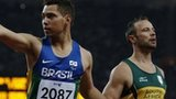Brazil's Alan Oliveira (left) and Oscar Pistorius