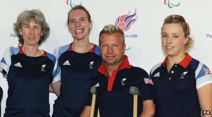 Deborah Criddle, Sophie Christiansen, Lee Pearson and Sophie Wells