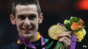 Michael McKillop with gold medal