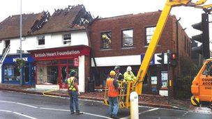 Fire damage in Uckfield