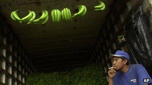 Man with bananas