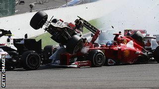 Romain Grosjean crash