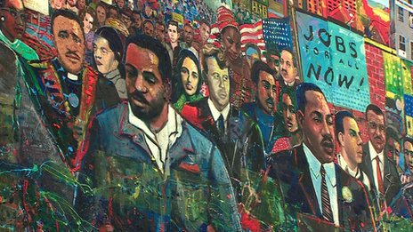 Atlanta mural depicting multi-racial society