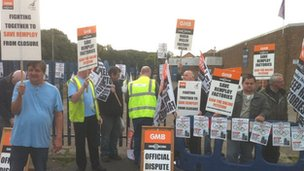 Remploy staff on picket line