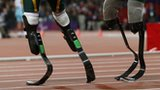 Blades of Oscar Pistorius (left) and Alan Oliveira