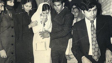 Rachida Mir, Saima's mother, on her wedding day in Karachi in 1973