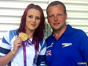 Jessica-Jane Applegate and coach Alex Pinniger