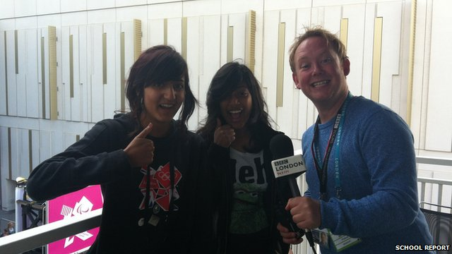 Marianna and Charmaine with BBC London reporter Jason Rosam