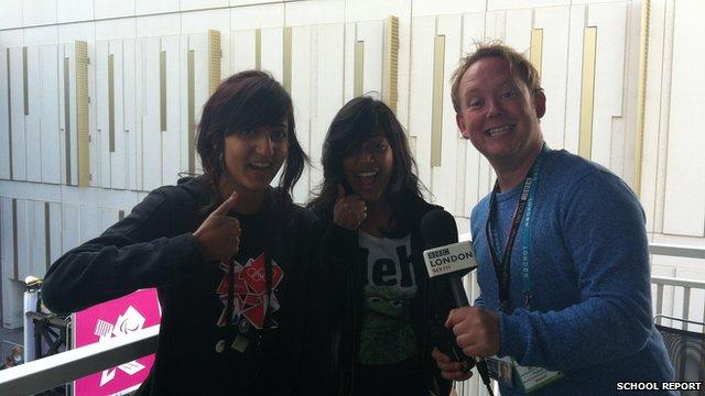 Marianna and Charmaine with BBC London reporter Jason Rosam