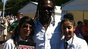 Students met Jamaican athletes