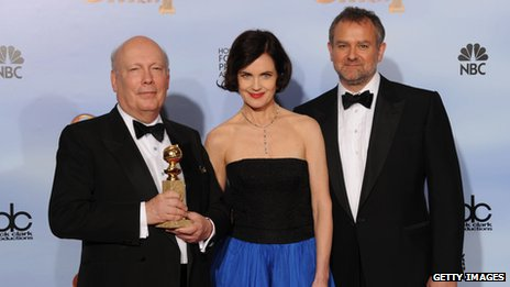 Downton Abbey writer Julian Fellowes and stars Elizabeth McGovern and Hugh Bonneville