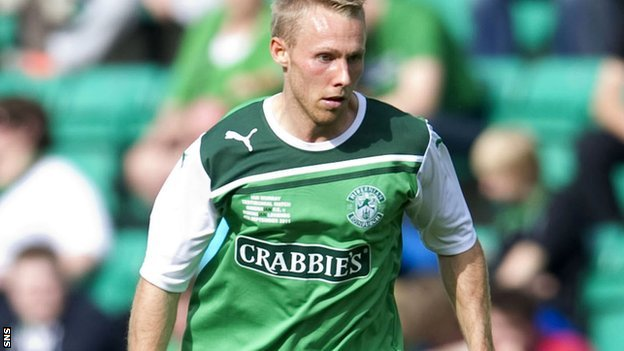 Hibs midfielder Danny Galbraith
