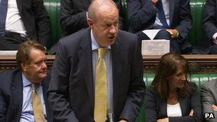 Damian Green in the House of Commons