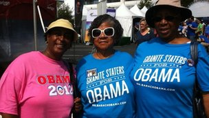 Barack Obama supporters at the Carolina fest event ahead of the National Democratic Convention