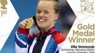 Ellie Simmonds is the fourth Paralympian to appear on two gold medal stamps