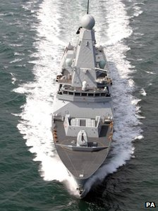 HMS Daring at sea