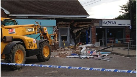 Digger used in Norfolk ram-raid