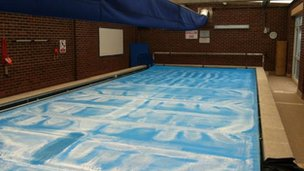 Pool at Cooper and Jordan C of E school in Aldridge