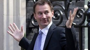 Jeremy Hunt, on his way into No 10 to learn his fate