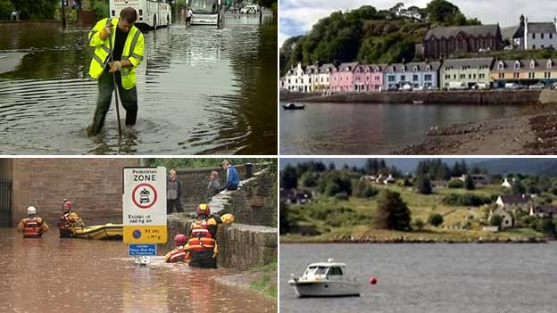 The north west of Scotland was drier than usual whereas other places experienced as much as twice the normal rainfall