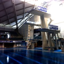 Diving boards at Sheffield's Ponds Forge
