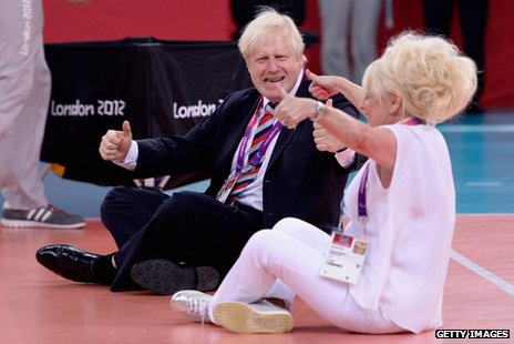Boris Johson and Barbara Windsor