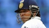 Sachin Tendulkar batting in India's second test against New Zealand