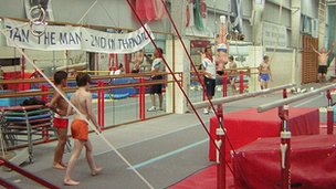 Paul Hall training at Hunts Gymnastics Club