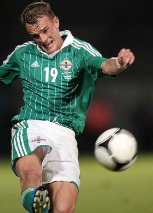 Dean Shiels of Northern Ireland