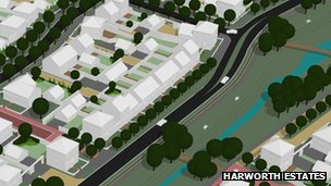Artist impression of the housing development