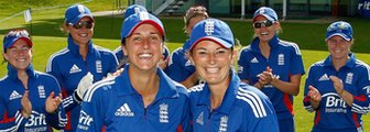 England's Jenny Gunn and captain Charlotte Edwards