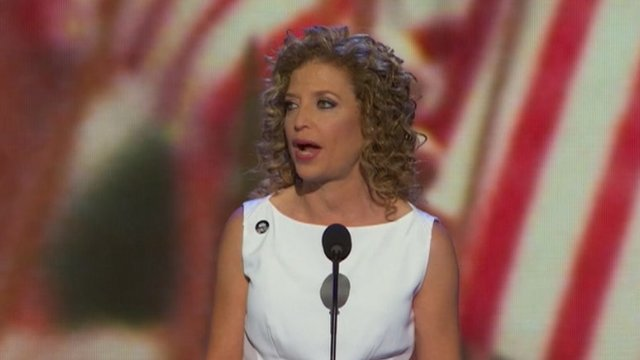 Debbie Wasserman Schultz opens the Democratic National Convention in Charlotte, North Carolina