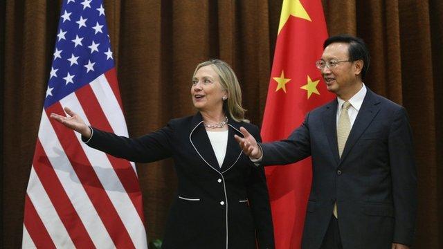 Hillary Clinton and Yang Jiechi
