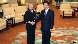 Mrs Clinton said the US-China relationship was mature enough to tackle areas of disagreement