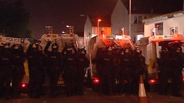 Police under attack in north Belfast