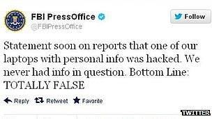 FBI tweet