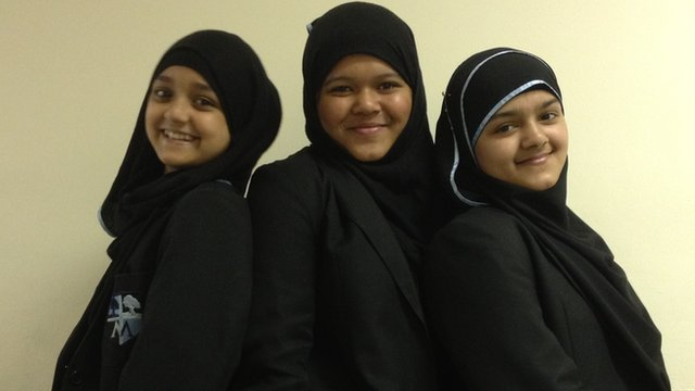 Anjuma, Mafuza and Tasneem from Morpeth School