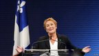 Pauline Marois on stage