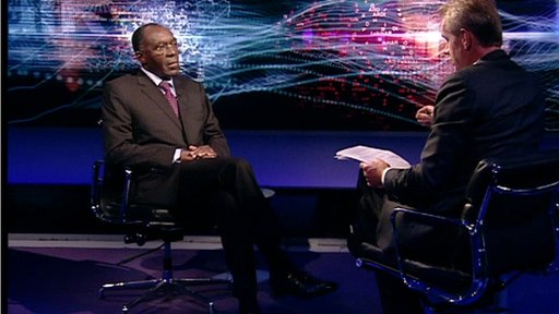 Raymond Tshibanda and Stephen Sackur