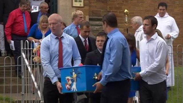 Mourners at Dylan Cecil&#039;s funeral