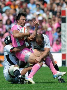 Pink rugby kit