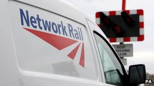 Network Rail van at level crossing