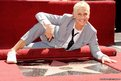 Ellen DeGeneres by her star on the Hollywood Walk of Fame in Los Angeles, California.